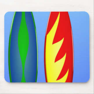 Surfboards retro surf mouse pad