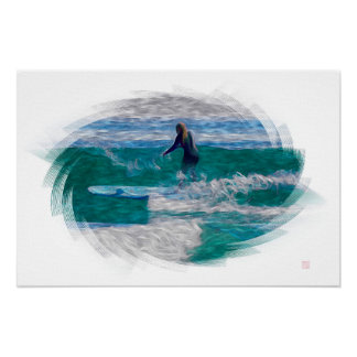 Surfer - Art On Canvas Poster