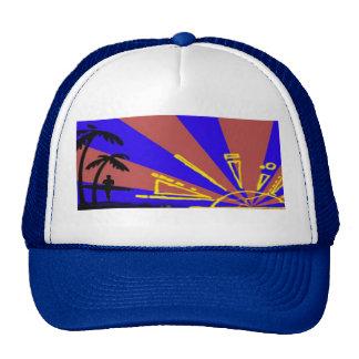 Surfer at Sundown Trucker Hats