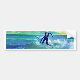 Surfer Bumper Sticker