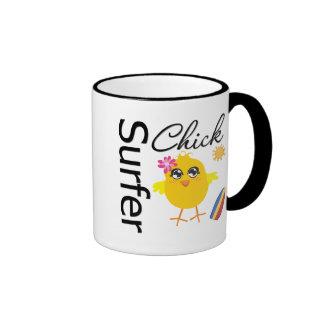 Surfer Chick Mugs