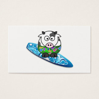 Surfer Cow Business Card