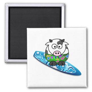 Surfer Cow Magnet