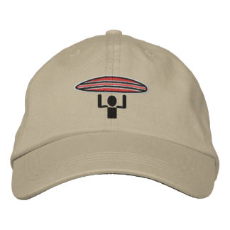 Surfer Crossing adjustable lid Embroidered Hats