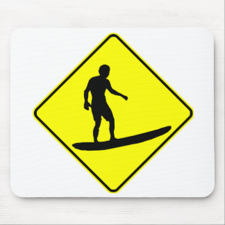 Surfer Crossing Mouse Pads