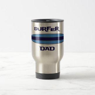 Surfer Dad Blue Stainless Steel Travel Mug