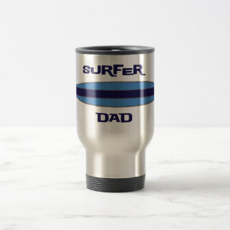 Surfer Dad Blue Travel Mug