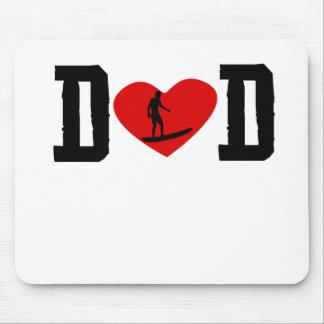Surfer Dad Heart Mousepad