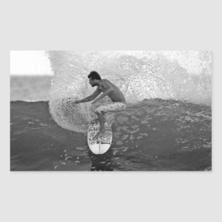 Surfer Dane Reynolds surfing El Salvador Rectangular Sticker