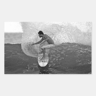 Surfer Dane Reynolds surfing El Salvador Rectangular Sticker