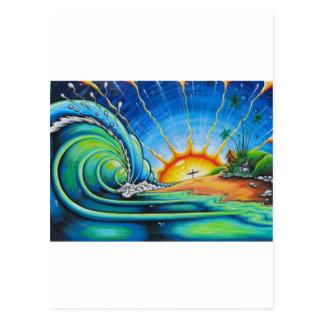 Surfer Design Postcard