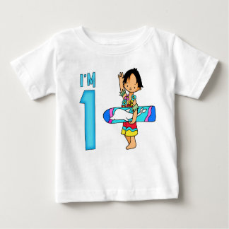 Surfer Dude 1st Birthday Baby T-Shirt