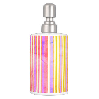 Surfer-Dude-Sun-Stripe's-Multi-Mod-Bath-Decor Soap Dispenser And Toothbrush Holder