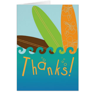 Surfer Dude Thank You Card
