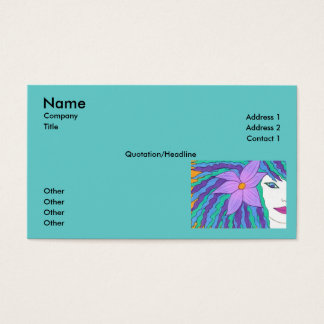 Surfer Girl Business Card Template