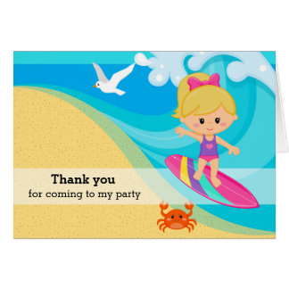 Surfer girl card