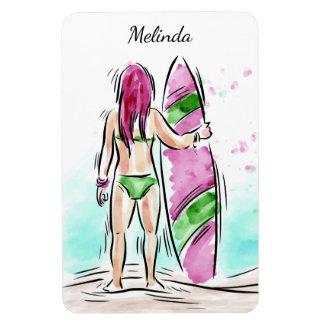 Surfer Girl custom name magnet