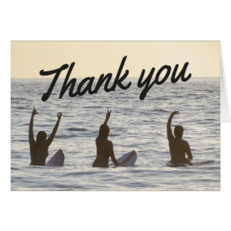 Surfer Girl Friends Thank You Notecard