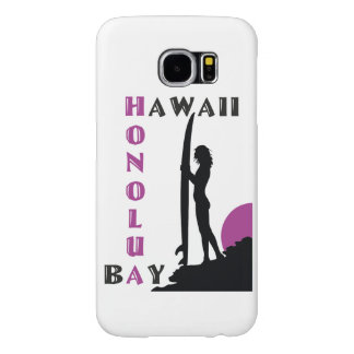 Surfer Girl Honolua Bay Samsung Galaxy S6 Cases