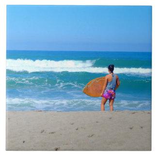 Surfer Girl Tile