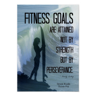 Surfer Girl with Fitness Goals! Poster