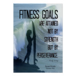 Surfer Girl with Fitness Goals! Print