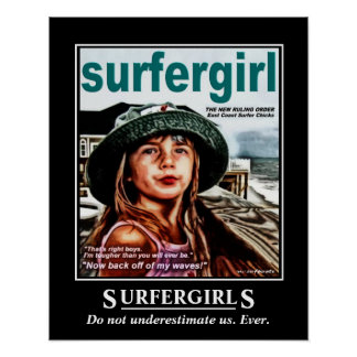 Surfer Girls Poster