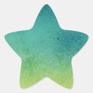 SURFER GRUNGE TYEDYE BLUES GREENS YELLOWS BACKGROU STICKER