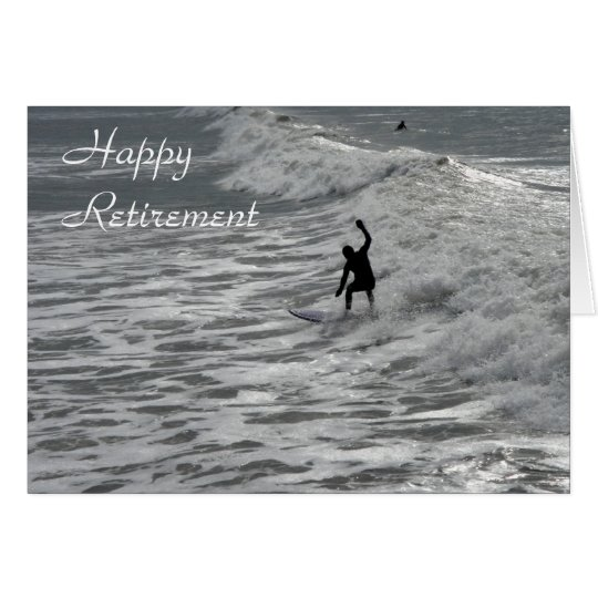 Surfer happy retirement card