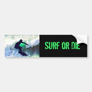 Surfer in Big Wave Bumper Stickers