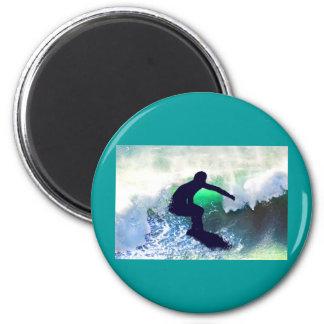 Surfer in Big Wave Refrigerator Magnet