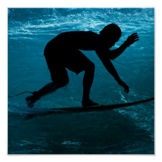 surfer in sea poster