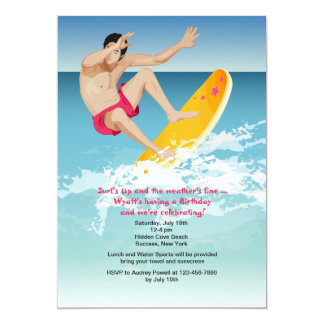 Surfer Male Invitation