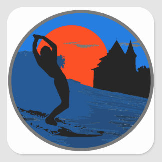 Surfer of Biarritz Square Sticker