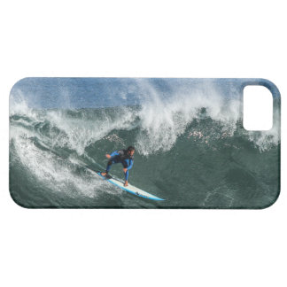 Surfer on Blue and White Surfboard Barely There iPhone 5 Case