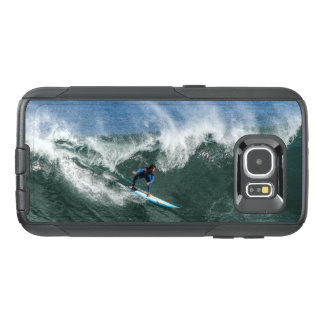 Surfer on Blue and White Surfboard OtterBox Samsung Galaxy S6 Case