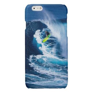 Surfer on Green Surfboard