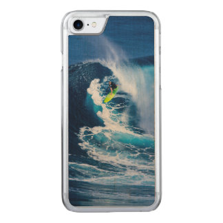 Surfer on Green Surfboard Carved iPhone 8/7 Case