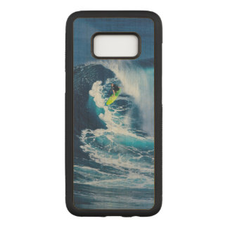 Surfer on Green Surfboard Carved Samsung Galaxy S8 Case