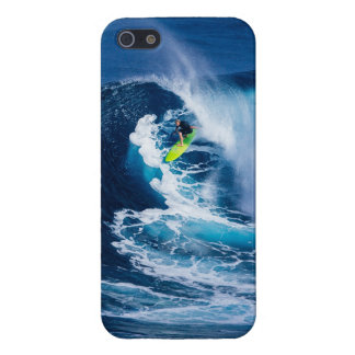 Surfer on Green Surfboard Cover For iPhone 5/5S