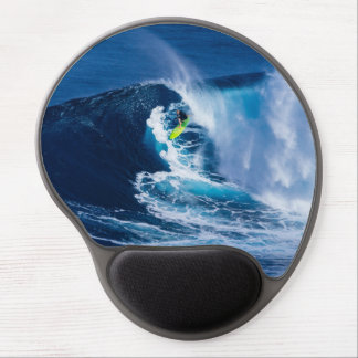 Surfer on Green Surfboard Gel Mouse Pad