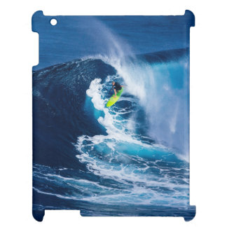 Surfer on Green Surfboard iPad Cover