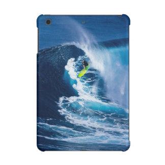 Surfer on Green Surfboard iPad Mini Cover