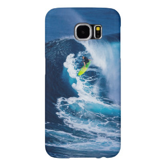 Surfer on Green Surfboard Samsung Galaxy S6 Cases