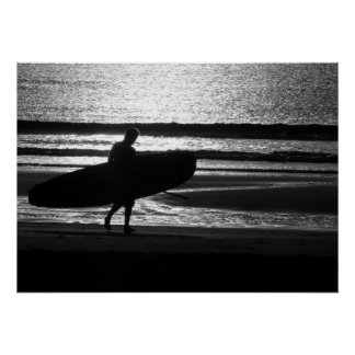 Surfer on the Sand Poster