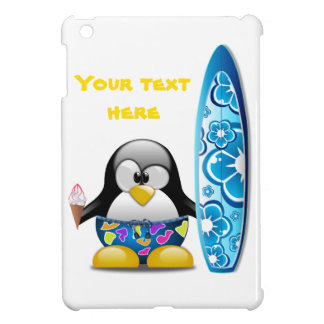 Surfer Penguin with Ice Cream Case For The iPad Mini