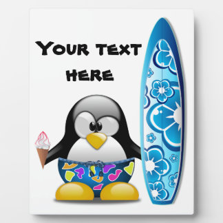 Surfer Penguin with Ice Cream Plaques