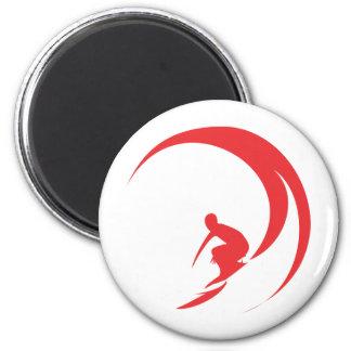 Surfer Red Magnet