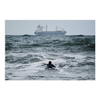 Surfer Series - Lost at Sea Poster