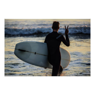 Surfer Series - Peace! Poster